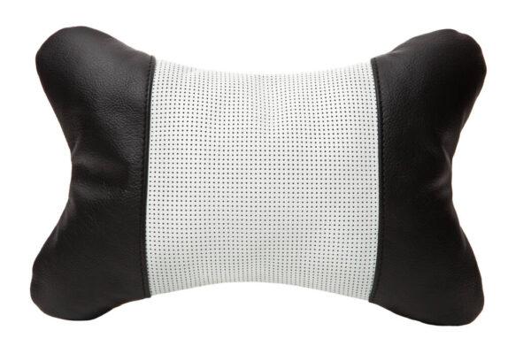 Подушка со вставкой из белой перфорированной кожей